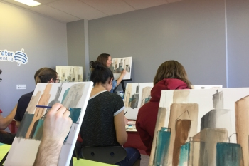 Paint Night in the Community Space
